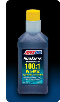 AMSOIL Saber Outboard Synthetic 100:1 Pre-Mix 2-Cycle Oil